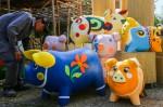 Mô hình đàn heo sắp ra đường hoa Nguyễn Huệ