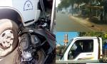[VIDEO] Camera hành trình ghi cảnh ôtô băng ngang đường, tông 2 xe máy