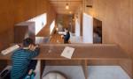 Ngôi nhà Nhật 5 tầng không có vách ngăn