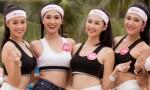 Thí sinh Hoa hậu Việt Nam thi chạy trên bãi biển