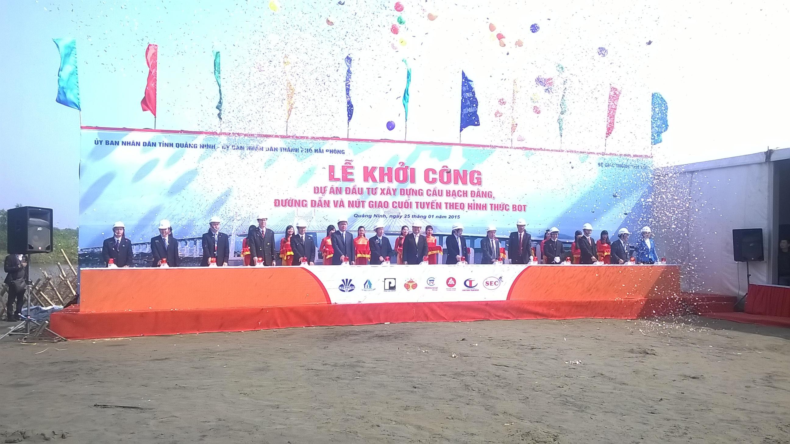 Quảng Ninh: Khởi công xây dựng cầu Bạch Đằng