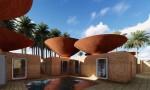 Cấu trúc mái lõm ứng phó với tình trạng khan hiếm nước