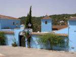 Thị trấn xanh da trời ở Tây Ban Nha