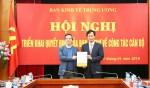Trao quyết định của Ban Bí thư bổ nhiệm Phó trưởng Ban Kinh tế Trung ương