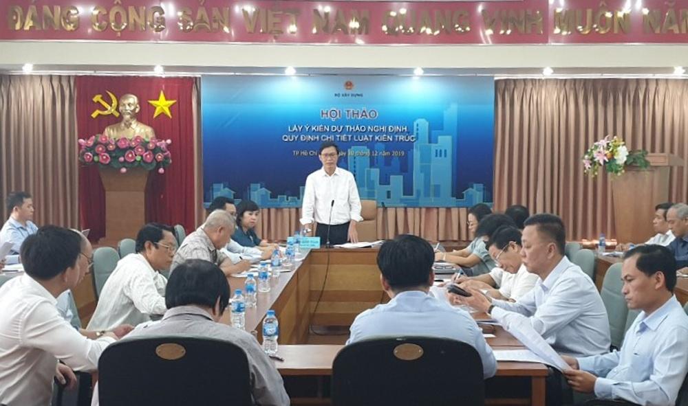 Bộ Xây dựng lấy ý kiến cho Nghị định quy định một số điều của Luật Kiến trúc tại thành phố Hồ Chí Minh