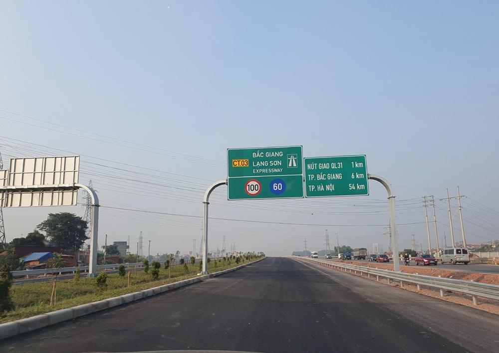 Sẽ miễn phí sử dụng cao tốc Bắc Giang - Lạng Sơn dịp Tết Nguyên đán