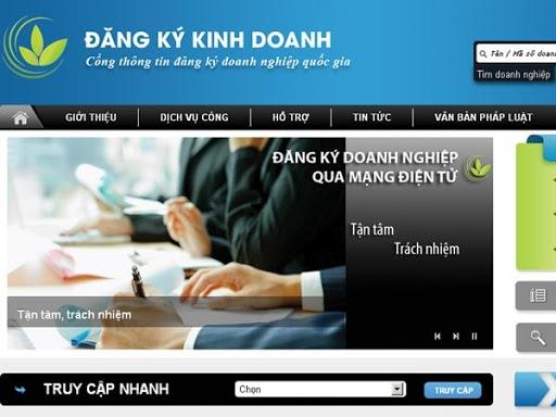 quy dinh dang ky doanh nghiep qua mang thong tin dien tu