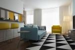 Những căn phòng hiện đại với gam màu đen, trắng