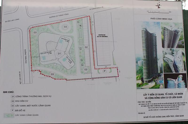 Hải Phòng: Lấy ý kiến dân cư xây dựng tháp thương mại cao 70 tầng