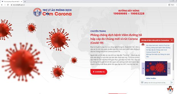 Ra mắt trợ lý ảo hỏi đáp về dịch bệnh viêm đường hô hấp cấp tính do chủng mới virus Corona