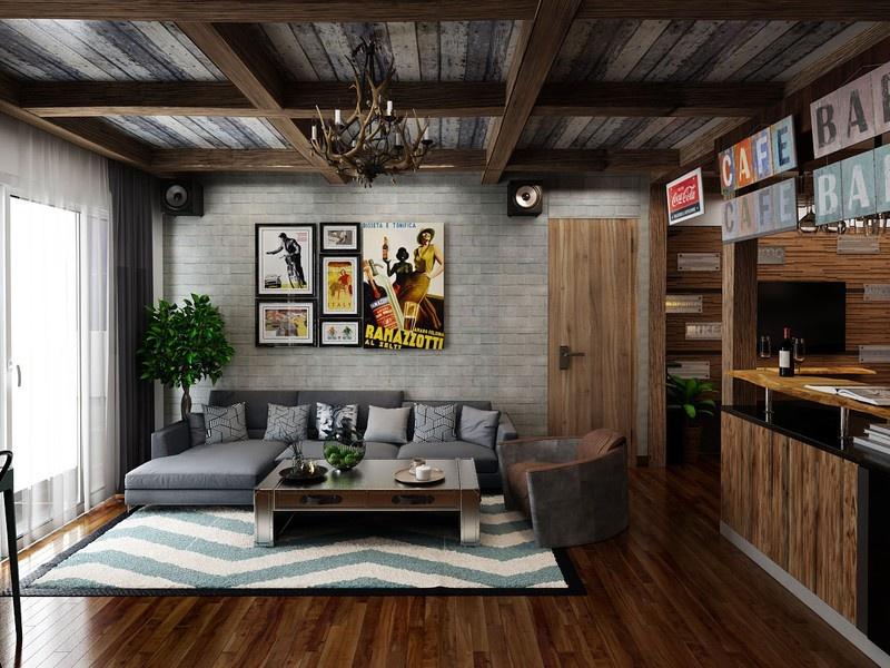 Căn hộ chung cư độc đáo nhờ trang trí thêm quầy bar