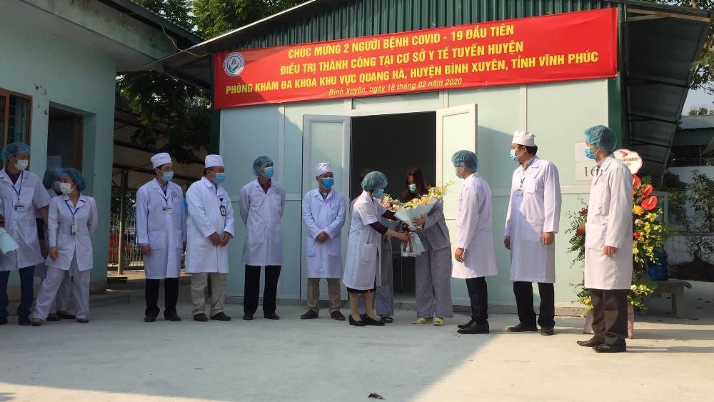 Vĩnh Phúc: Hai bệnh nhân nhiễm Covid-19 đầu tiên được điều trị thành công tại cơ sở y tế tuyến huyện