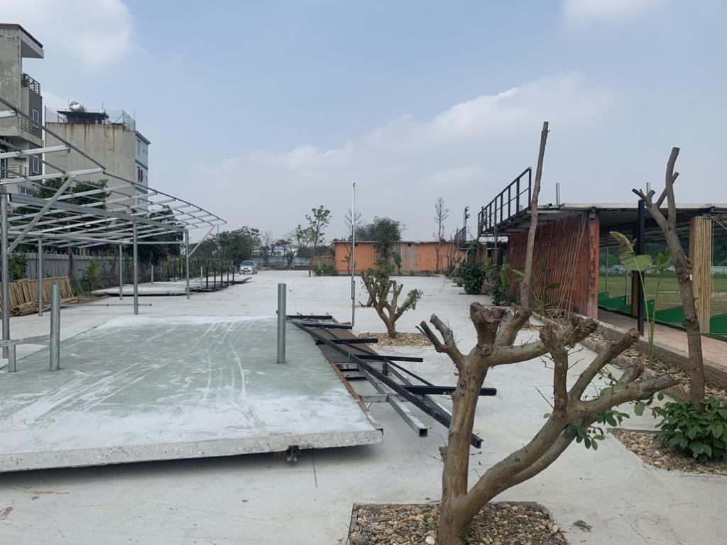 Bắc Từ Liêm (Hà Nội): Công trình sân tập golf vi phạm trật tự xây dựng tại phường Phú Diễn cơ bản được tháo dỡ
