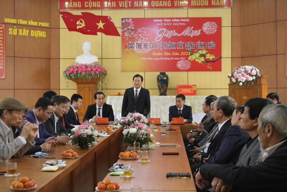 Phó Thủ tướng Trịnh Đình Dũng gặp mặt các thế hệ ngành Xây dựng Vĩnh Phúc