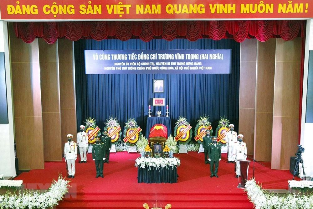 Lễ truy điệu nguyên Phó Thủ tướng Trương Vĩnh Trọng