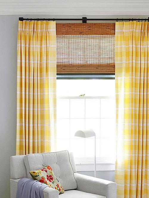 Kết quả hình ảnh cho rèm cửa màu vàng