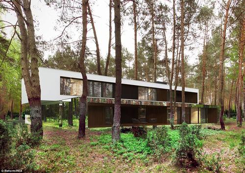 152433baoxaydung 33 Thiam quan ngôi nhà gương tuyệt đẹp ẩn mình trong rừng