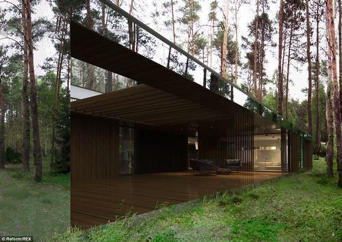 152437baoxaydung 36 Thiam quan ngôi nhà gương tuyệt đẹp ẩn mình trong rừng