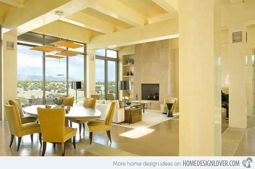 Những ý tưởng thiết kế nội thất phòng ăn với gam màu be