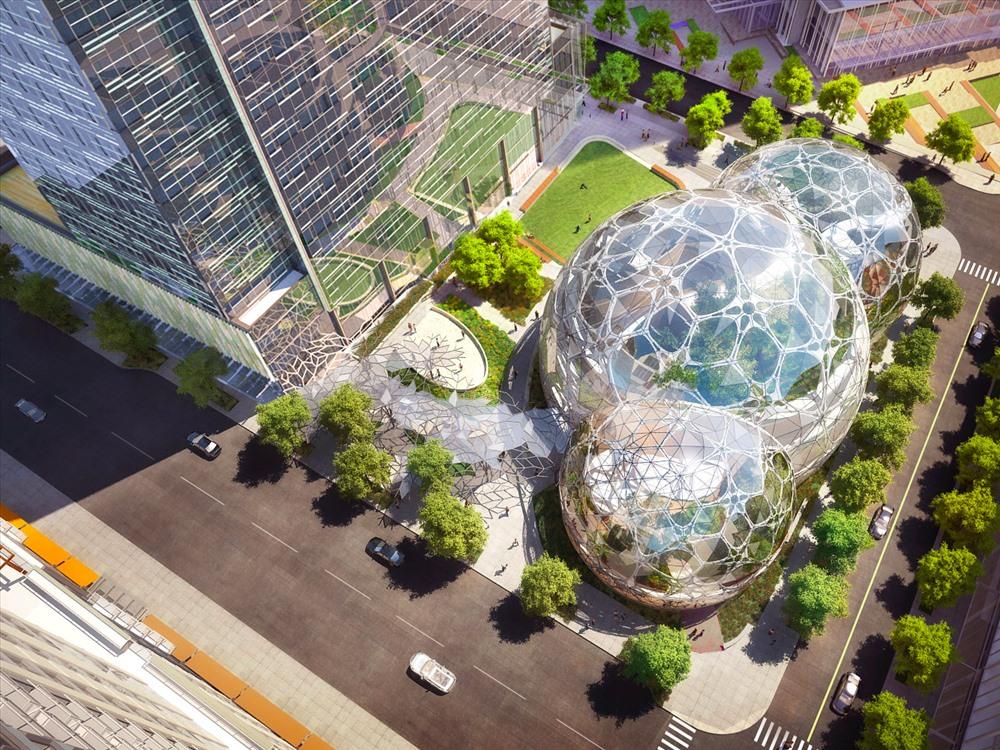 Choáng ngợp trụ sở Amazon, nơi làm việc của người giàu nhất hành tinh