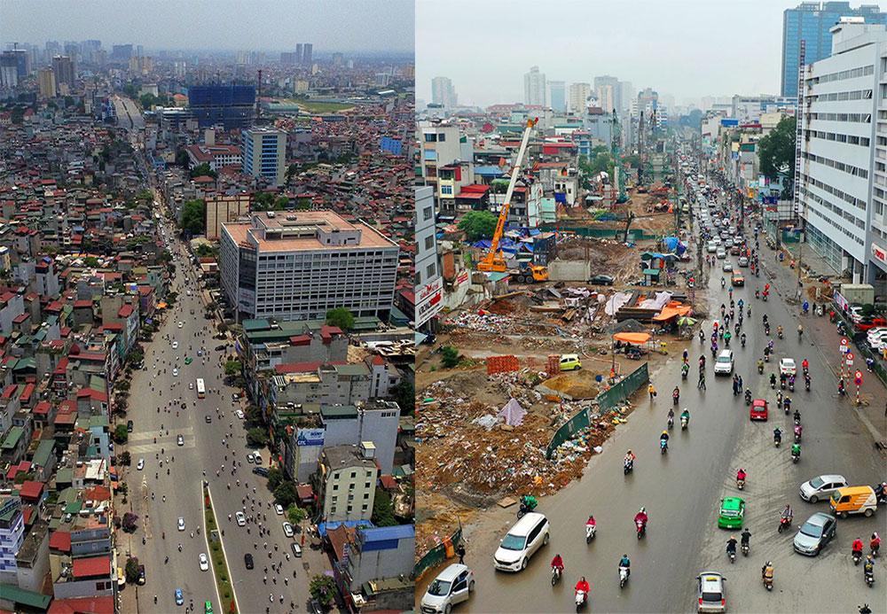 Đường Trường Chinh dở dang sau 5 năm thi công mở rộng