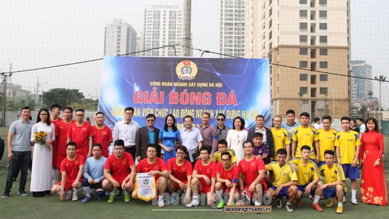 Khai mạc giải bóng đá truyền thống ngành Xây dựng Hà Nội năm 2019
