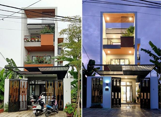 Nhà phố 3 tầng lấy gió và sáng có thiết kế ấn tượng tại Đà Nẵng