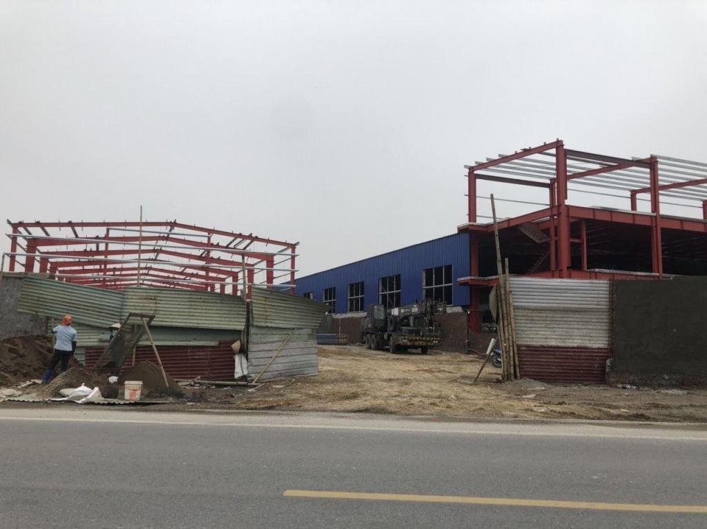 Hà Nam: Công ty TNHH Hoàng Quân tự ý xây dựng công trình không phép