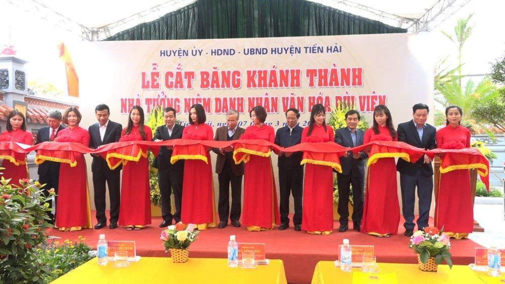 Thái Bình: Tiền Hải khánh thành nhà tưởng niệm danh nhân văn hóa Bùi Viện