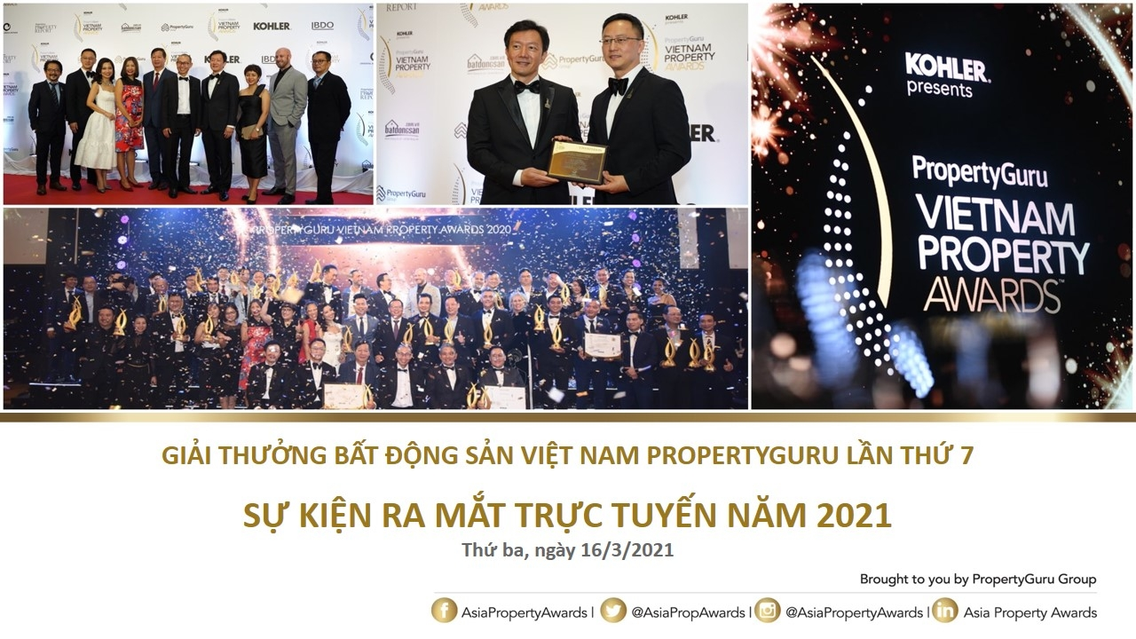 Ra mắt trực tuyến Giải thưởng Bất động sản Việt Nam PropertyGuru lần thứ 7