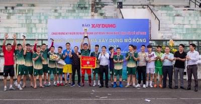 Liên quân Báo Xây dựng - Tạp chí điện tử Hòa Nhập vô địch giải Giao lưu bóng đá Xây dựng mở rộng