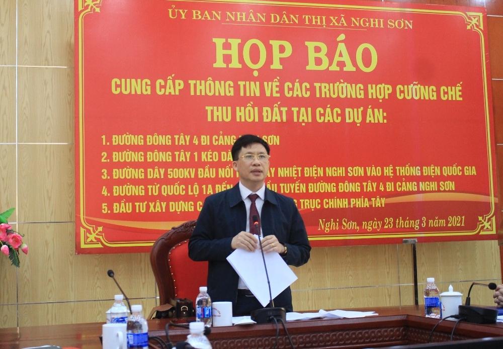 Nghi Sơn (Thanh Hóa): Chuẩn bị tổng cưỡng chế giải phóng mặt bằng 5 dự án trọng điểm
