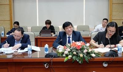 Bộ Y tế thảo luận với Đại sứ Trung Quốc, Ấn Độ và Tham tán công sứ Nga về vắc xin phòng Covid-19