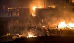 Lửa lớn thiêu rụi một nửa trại tị nạn ở Pháp, 10 người bị thương