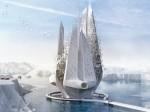 Tòa tháp chọc trời như núi băng ngăn chặn ảnh hưởng của biến đổi khí hậu