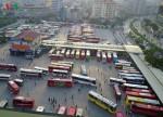 Hình ảnh kẹt cứng trên nhiều ngả đường dẫn đến các bến xe tại Hà Nội