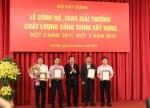 Trungnam Group nhận 2 giải chất lượng công trình xây dựng