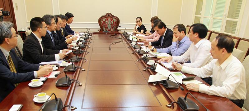 Thứ trưởng Lê Quang Hùng làm việc với Tập đoàn Hóa chất Mitsubishi