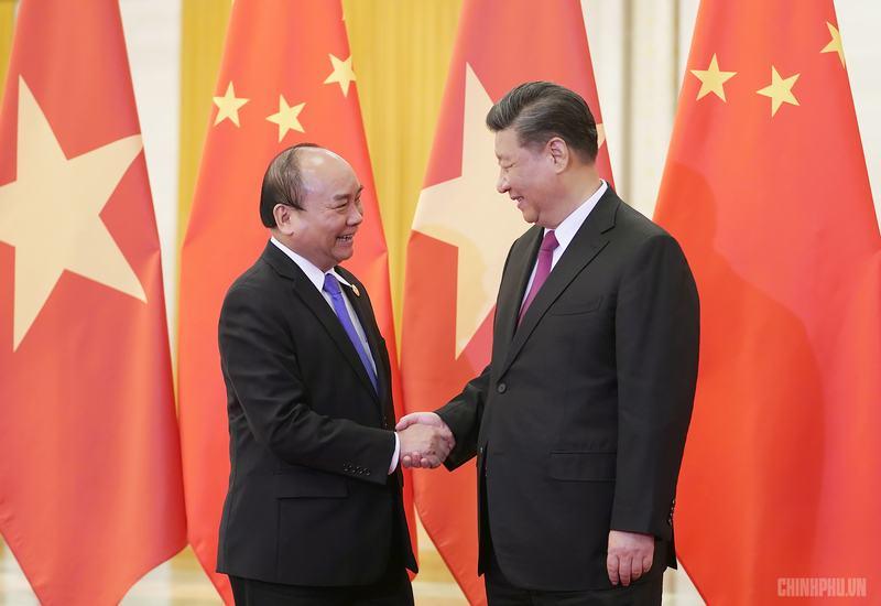 Chùm ảnh: Thủ tướng hội kiến Tổng Bí thư, Chủ tịch nước Trung Quốc Tập Cận Bình