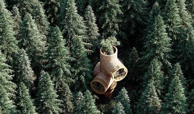 Ngôi nhà hình gốc cây ở Áo