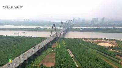 Toàn cảnh khu quy hoạch đô thị sông Hồng từ trên cao