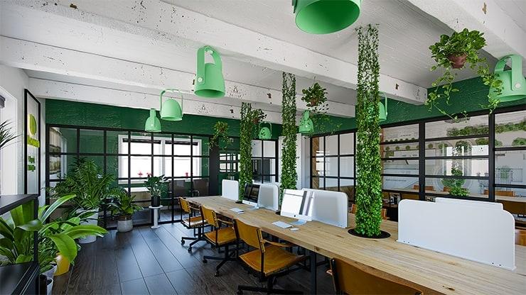 Những điều cần lưu ý khi thiết kế văn phòng xanh