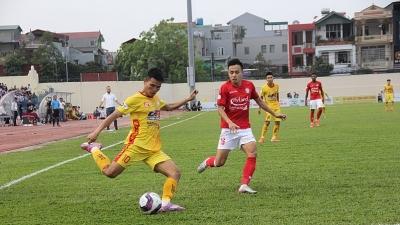 Đông Á Thanh Hóa xếp thứ 9 trên bảng xếp hạng sau trận hòa với Thành phố Hồ Chí Minh