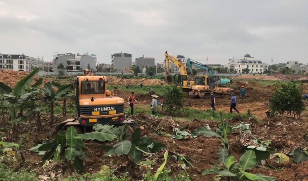 Bắc Giang: Tổ chức cưỡng chế thu hồi đất thực hiện dự án Khu đô thị mới phía Tây thị trấn Vôi