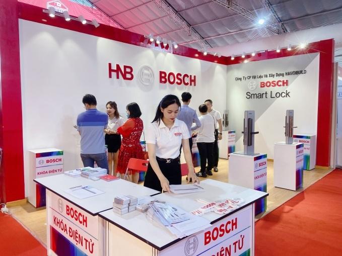 Khóa cửa điện tử Bosch tại Triển lãm Quốc tế Vietbuild Thành phố Hồ Chí Minh