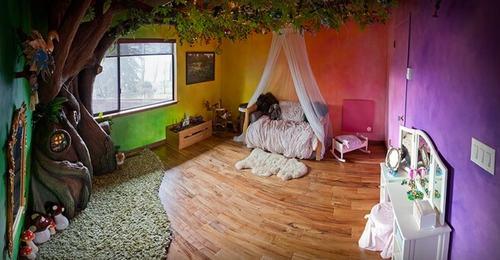 142400baoxaydung image011 Thiết kế phòng ngủ như vườn cổ tích cho bé gái