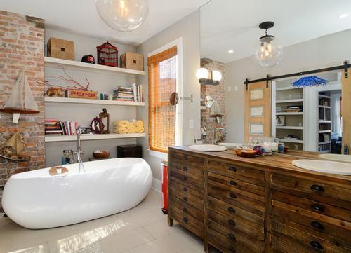 192057baoxaydung image006 Cùng nhìn qua những bức tường gạch tuyệt đẹp cho phòng tắm