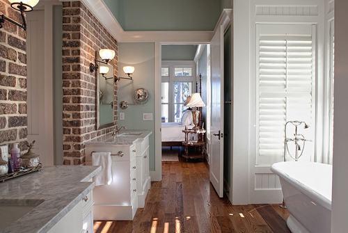 192057baoxaydung image007 Cùng nhìn qua những bức tường gạch tuyệt đẹp cho phòng tắm
