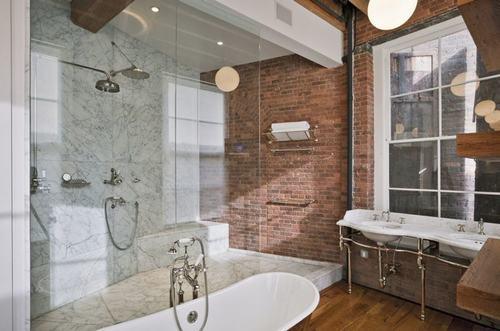 192058baoxaydung image013 Cùng nhìn qua những bức tường gạch tuyệt đẹp cho phòng tắm