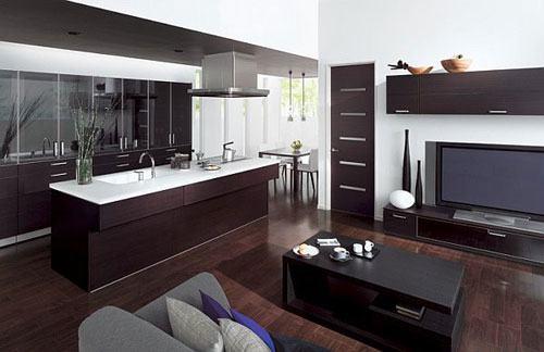 202629baoxaydung image003 Chía sẻ những cách tích hợp phòng bếp vào phòng khách thông minh